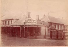 Corner of George & Hunter Streets, Sydney, c 1887  State Library of NSW