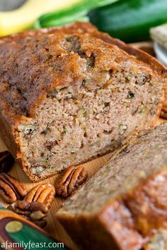 A Family Feast   Delicious Recipes for Everyday Meals and Special Occasions Best Zucchini Bread, Zucchini Bread Recipes, Healthy Zucchini, Zuchinni Bread, Köstliche Desserts, Delicious Desserts, Dessert Recipes, Great Recipes, Favorite Recipes