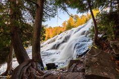 A through the forest view of Bond Falls, Paulding, MI. Michigan Waterfalls, Framed Art Prints, Fine Art Prints, Waterfall Photo, Forest View, State Of Michigan, Canvas Frame, Bond, Gallery