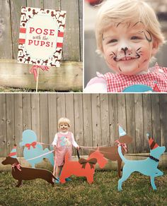 DIY puppy dog walking photo booth