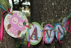 Items similar to Birthday Party Decorations, Owl birthday party banner, custom birthday decor, girl birthday, boy birthday on Etsy Owl Themed Parties, Owl Parties, Owl Birthday Parties, First Birthday Themes, 1st Birthday Girls, First Birthdays, Birthday Ideas, Sleepover Party, Baby Party