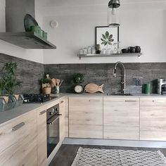 Decorating Your Home with Texture is Always an Inspiration - Interior Fun Home Decor Kitchen, New Kitchen, Interior Design Living Room, Home Kitchens, Kitchen Dining, Küchen Design, House Design, Scandinavian Kitchen, Cuisines Design