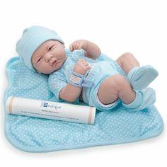 "la newborn real life doll | Berenguer La Newborn Real Boy 14"" Baby Doll Brand New Blue Polka Dot ..."