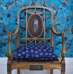 Buy Teal/Old Gold Matthew Williamson Fanfare Wallpaper from our Wallpaper range at John Lewis & Partners. Wallpaper Online, New Wallpaper, Matthew Williamson, Application Pattern, Japanese Blossom, Osborne And Little, Painted Fan, Latest Fashion Design, Wallpaper Calculator