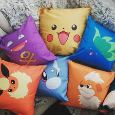 Cute Pokemon Cushions: Pokemon Go themed filled pillows
