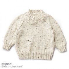 Child's Knit Crew Neck Pullover ~ easy level ~ FREE pattern - KNIT ~ sizes 2-10 yrs. old
