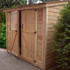 Outdoor Living Today SpaceSaver 8 x 4 ft. Double Door Storage Shed - The Outdoor Living Today SpaceSaver 8 x 4 ft. Double Door Storage Shed could be just what you need to store your accumulating arsenal of gardening. Diy Storage Shed Plans, Wood Storage Sheds, Wood Shed Plans, Outdoor Storage Sheds, Outdoor Sheds, Barn Plans, Storage Ideas, Lean To Shed, Pergola