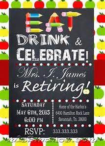 Retirement party invitation custom colors available retirement teacher retirement party invitation wording bing images stopboris Choice Image