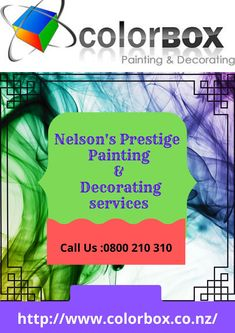 Do you want a new attractive look to your home or office with stylish paint colors? Contact Nelson's most trustworthy painters. Color Box has a year of experience in providing professional painting & decorating services. We will get your job finished right at a reasonable price.