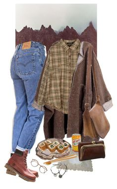 """Untitled #1064"" by paper-freckles ❤ liked on Polyvore featuring Levi's, Timberland, Retrò, RabLabs and Coach"