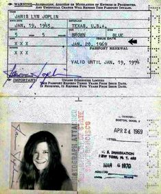pasaportes antiguo celebridades - Buscar con Google