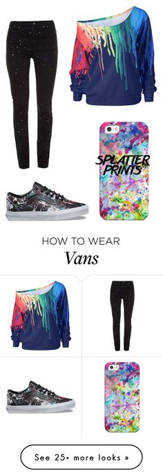 """Splattered paint!"" by myraharit on Polyvore featuring Casetify, Vans and Étoile Isabel Marant"