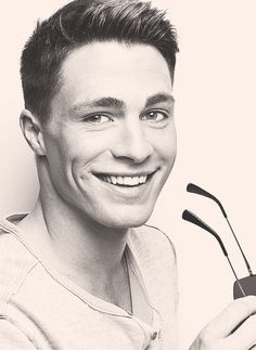 Colton Haynes is one beautiful man. Look at that smile