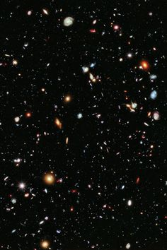 The Hubble Extreme Deep Field: the most distant image of the Universe ever created. The light from the most distant visible objects was created more than 13 billion years ago.
