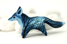MADE TO ORDER Moon Wanderer Fox Totem Figurine by DemiurgusDreams