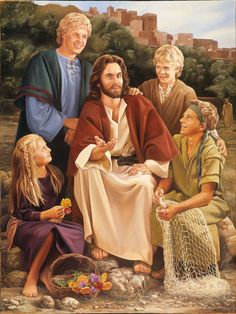 Jesus and the Children by Dan Freed (the child models are all members of the…