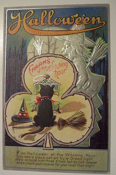 Antique Halloween Collectibles Postcards | Vintage Halloween Postcards
