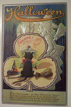 Antique Halloween Collectibles Postcards | Vintage Halloween Postcards