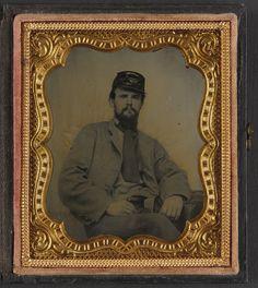 (c. 1861-1865) Private Richard F. Bernard of Co. A, 13th Virginia Infantry Regiment, in uniform.