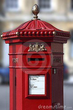 British Post Box - City of Bath in South west England