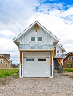 Contemporary Garage Apartment 062g-0081: 2-car garage apartment plan with modern style | 2-car