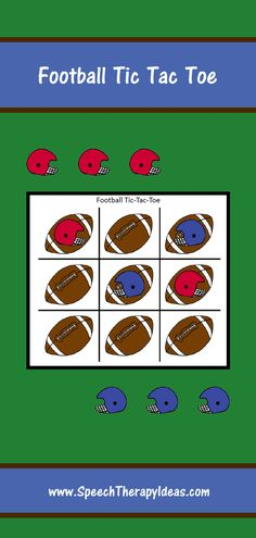This grid is a bit different than the traditional grid iron, but still has a football theme! This reinforcement activity is sure to get used over and over and can be used with students of almost any age. Speech Therapy Games, Speech Language Pathology, Therapy Activities, Therapy Ideas, Speech And Language, Irregular Plural Nouns, Football Themes, Velcro Dots, Tic Tac Toe