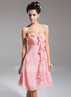 Homecoming Dresses - $98.99 - Empire Sweetheart Knee-Length Chiffon Homecoming Dress With Flower(s) Cascading Ruffles (022015082) http://jjshouse.com/Empire-Sweetheart-Knee-Length-Chiffon-Homecoming-Dress-With-Flower-S-Cascading-Ruffles-022015082-g15082
