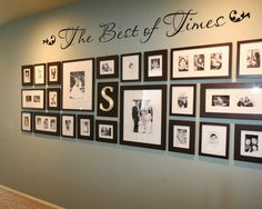 The Best of Times 36 family photo wall vinyl by GrabersGraphics, $22.00