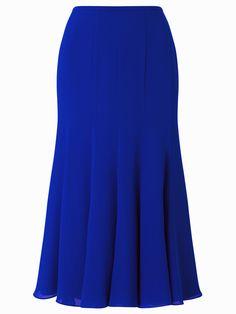 Jacques Vert Godet Skirt Blue £89.00 AT vintagedancer.com