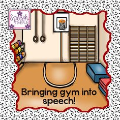 Speech Time Fun: Bringing gym into speech! Fun way to keep kids motivated and interested in what they're learning! Pinned by SOS Inc. Resources. Follow all our boards at pinterest.com/sostherapy/ for therapy resources.