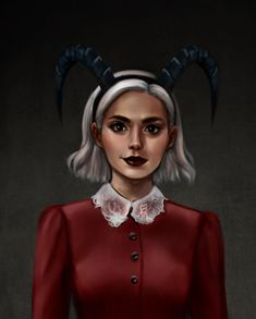 I binged the over the weekend and I really liked it! I used to love watching Sabrina the Teenage Witch as a kid, so it really felt like a throwback. So here's a quick painting I did of her. Teen Witch, Kiernan Shipka, Sabrina Spellman, Witch Art, The Dark World, Archie Comics, Weekend Is Over, Geeks, Favorite Tv Shows