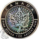 Canada: $5 Hologram Silver Maple Leaf Coin 2001