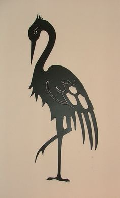 Heron for shadow theatre Transférer Des Photos, Heron Tattoo, Plasma Cutter Art, Bird Stencil, Steampunk Design, Metal Birds, Scroll Saw Patterns, Welding Art, Silhouette Art