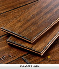 Distressed Fossilized Strand Bamboo Antique Wide Plank by CaliBamboo