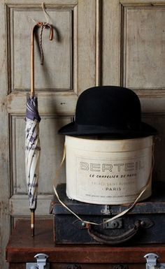 The derby or coke hat, the original hard-hat, produced by the Bowler Bro.s of London starting in 1850, to replace gamekeeper's top hats, because they were always getting damaged when riding through the forest. Eventually became known as the bowler.
