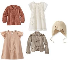 Beautiful fashion finds for kids from Pale Cloud Girls - GREAT SOFT COLOR PALETTE