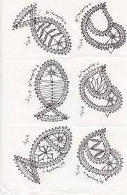 Znalezione obrazy dla zapytania koronka klockowa wzory