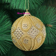 glitter painted christmas balls - Google Search
