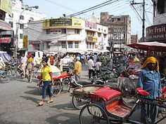 Local market street with a rickshaw guy in Amritsar - Punjab / India     I enjoyed these images and thought others would find them enjoyable also