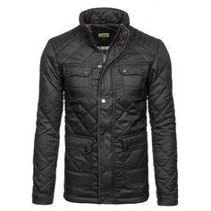 Pánská zimní prošívaná bunda černé barvy - manozo.cz cdf17696aef