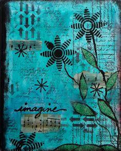 Art Journal ~ Imagine. Gorgeous Marjie!