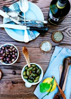 olives and wine... boom