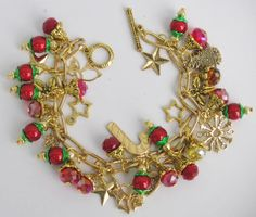 My Handcrafted Holiday/Christmas Charm Bracelet