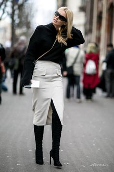 Уличная мода: Неделя моды в Париже осень-зима 2016-2017: уличный стиль