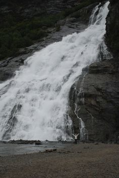 Waterfall in Alaska.Special excursion was from a Holland America cruise to Alaska.