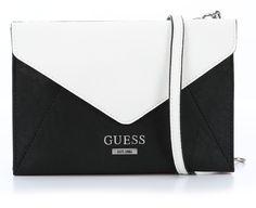 wardow.com - black & white, #Guess, Doheny Clutch schwarz multi 22 cm