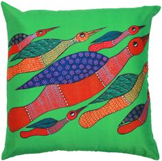 "Hummingbirds in Flight - 18 x 18"" Multicolor Art #Pillow / #Cushion #Cover – #Decorative #Birds Throw Covers- #Unique Home #Decor Ideas"