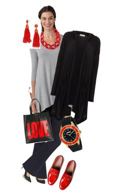 Work Fun by ddsavoie on Polyvore featuring polyvore fashion style Label Lab TravelSmith maurices Gucci Givenchy Versus BaubleBar DIANA BROUSSARD clothing