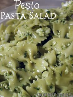 Basil pesto with pasta Pulse garlic in food processor until finely chopped Add nuts, cheese and a pinch of salt. Description from pinterest.com. I searched for this on bing.com/images