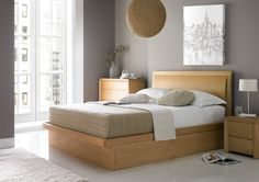 Arran Oak Ottoman Storage Bed - Oak Beds - Wooden Beds - Beds